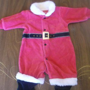 Red Footed Santa Suit Baby Size 10 pounds 1 month